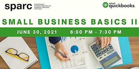 Finance & Funding Series: QuickBooks – Small Business Basics II tickets