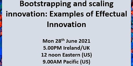 Un-event Series - Bootstrapping and scaling innovation tickets