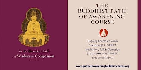 Online Buddhist Course via Zoom on Mahayana ingressos