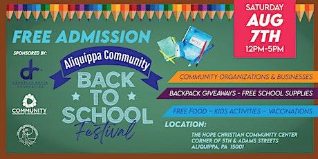 Aliquippa Community Back to School Festival tickets