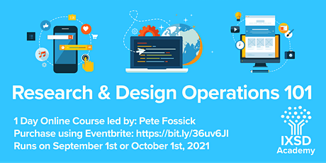 Research and Design Operations 101 tickets
