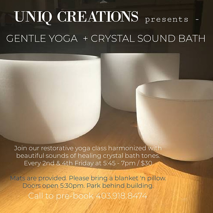 Gentle Yoga + Sound Bowl healing image