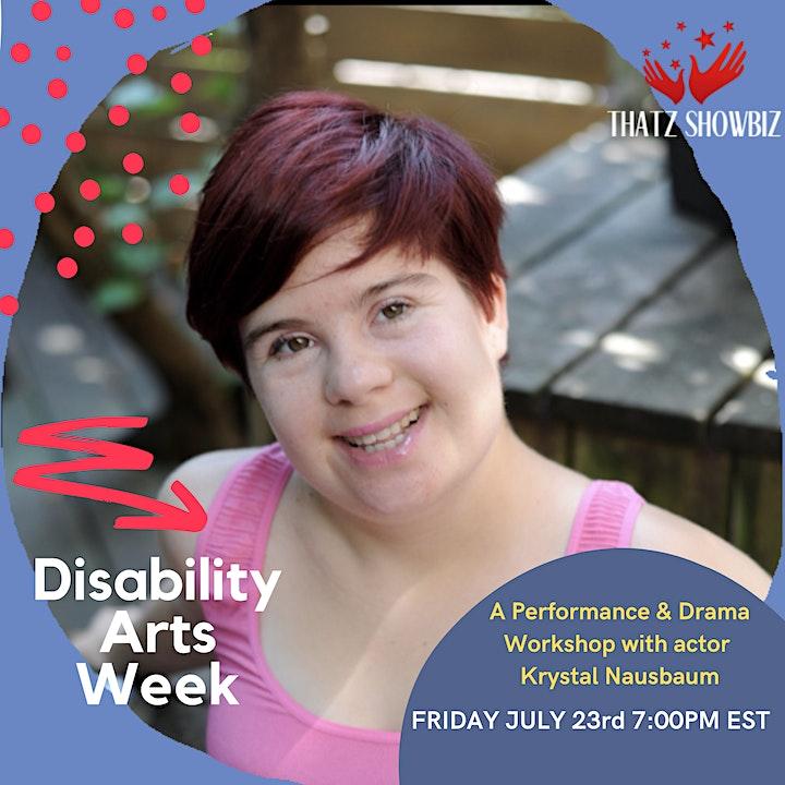 Disability Arts week - Performance & Workshop image