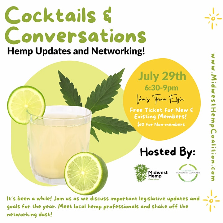 Cocktails & Conversations Hemp Networking image