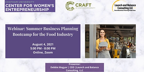 Webinar: Summer Business Planning Bootcamp for the Food Industry tickets