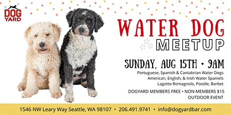 Seattle Water Dog Meetup at the Dog Yard tickets