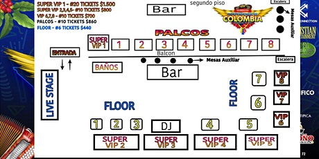 INDEPENDENCIA DE COLOMBIA - HOUSTON TX. - RESERV TABLES tickets