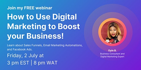 How To Use Digital Marketing To Boost Your Business tickets