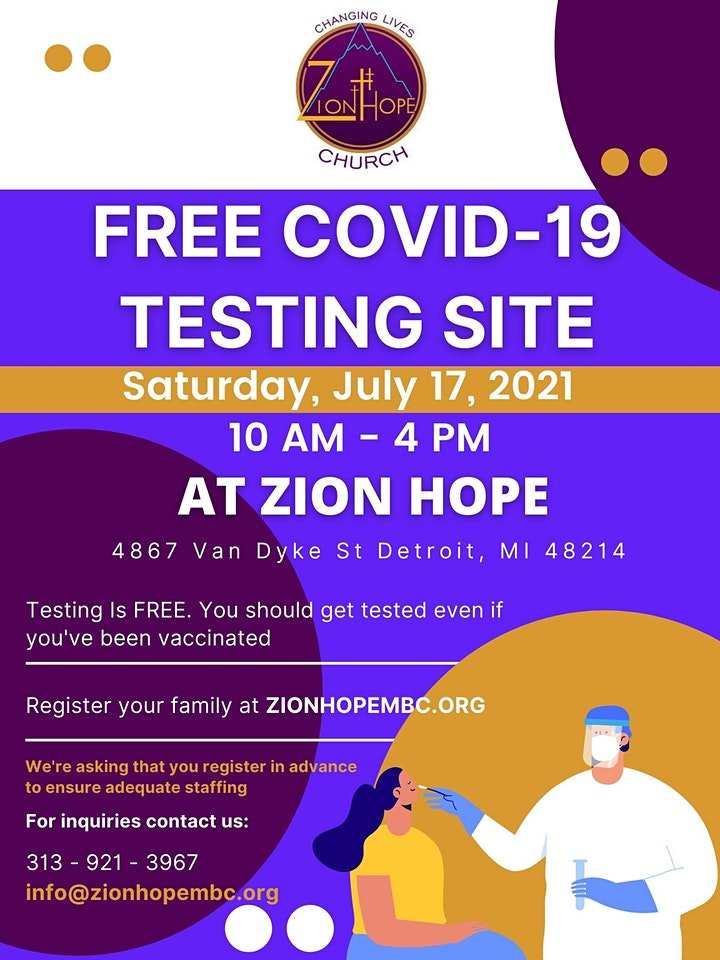 Free COVID-19 Test at Zion Hope MBC image