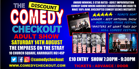 Comedy Night at The Empress on the Stray Harrogate - Saturday 14th August tickets