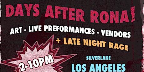 """Days After Rona"" Art Show Creative Pop Up + Performances tickets"
