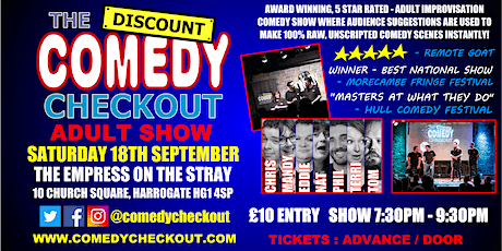 Comedy Night at The Empress on the Stray Harrogate - Saturday 18th Sept tickets