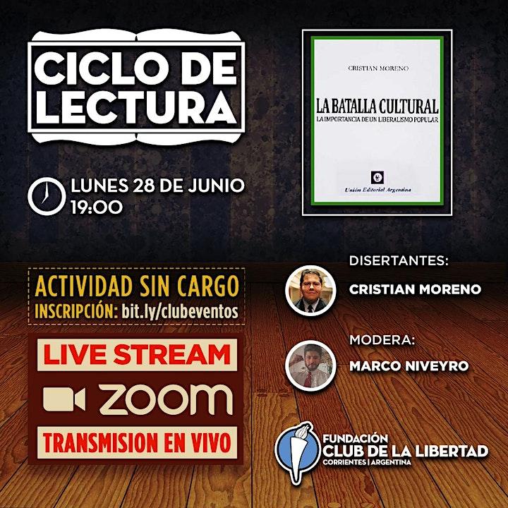 Imagen de CLUB DE LA LIBERTAD - CICLO DE LECTURA - LA BATALLA CULTURAL