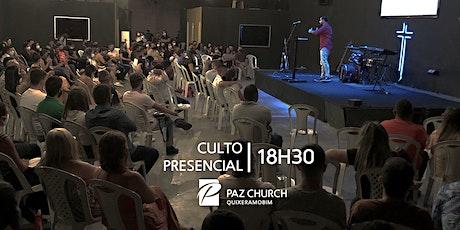 Culto Presencial 18h30 | Domingo, 27 de Junho | Paz Quixeramobim ingressos