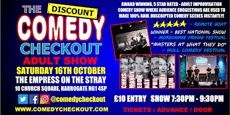 Comedy Night at The Empress on the Stray Harrogate - Saturday 16th Oct tickets