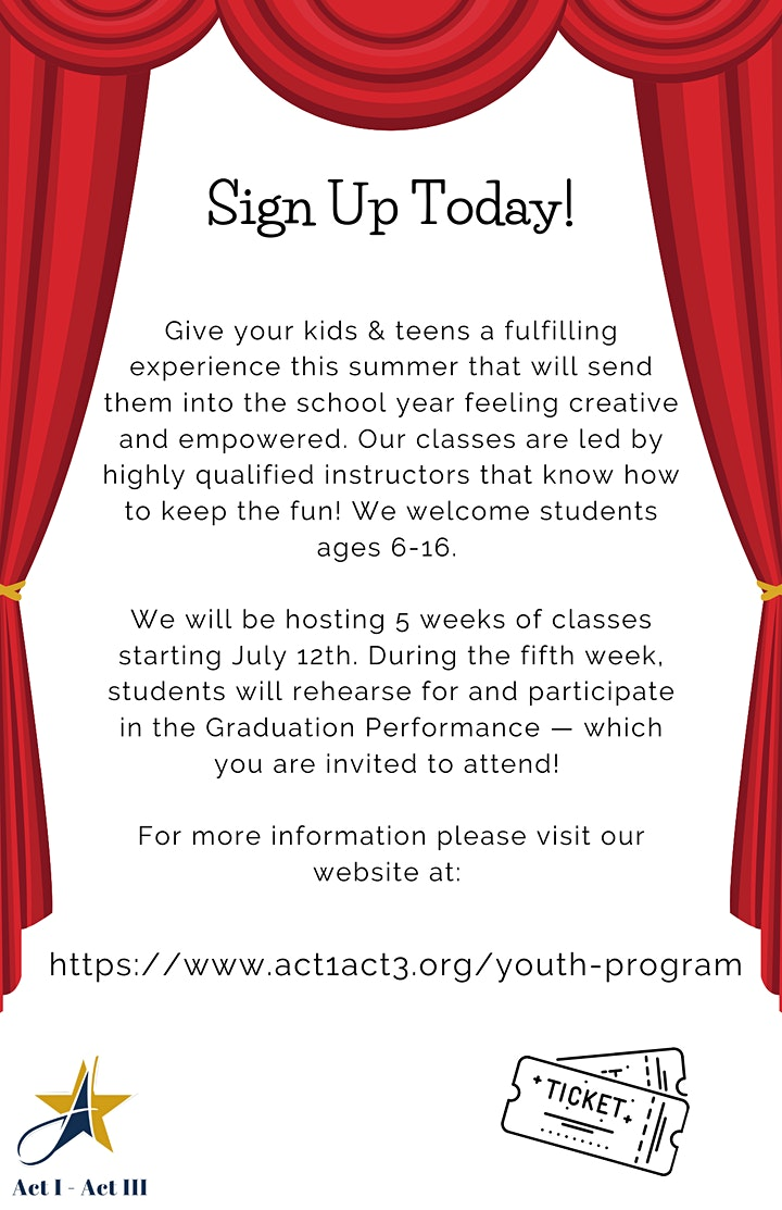 Youth Summer Performing Arts Camp image