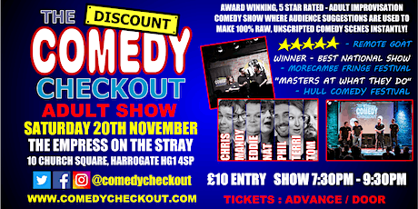 Comedy Night at The Empress on the Stray Harrogate - Saturday 20th Nov tickets
