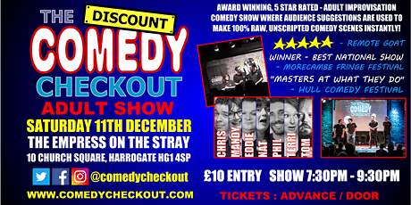 Comedy Night at The Empress on the Stray Harrogate - Saturday 11th Dec tickets