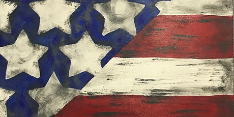 American Flag Wood  with Acrylic Paint tickets