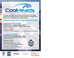 Cool Heads - Wallan - Young Driver Program tickets