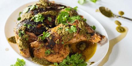 FREE Cooking Class: Roxy Brick Chicken with Salsa Verde biglietti