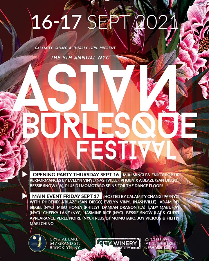 9th Annual  New York Asian Burlesque Festival Opening Party! image