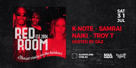 Glass Island - Red Room - Sunset Cruise - Sat 25th September tickets