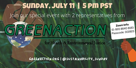 Sustainability Sunday: Greenaction for Health and Environmental Justice tickets