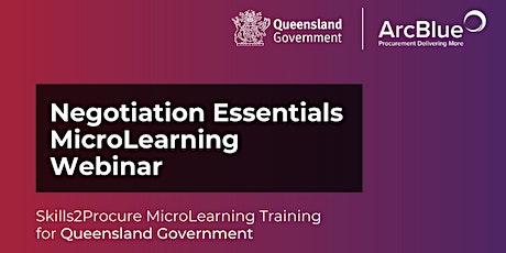 Negotiation Essentials Skills2Procure Training for QLD Government tickets