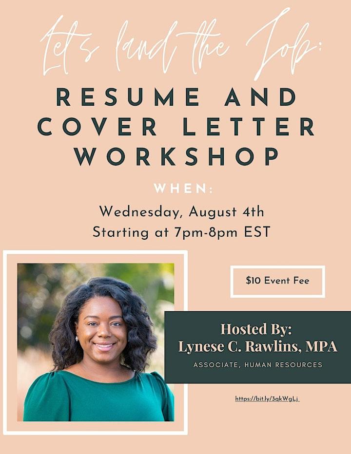 Let's Land The Job: Resume and Cover Letter Workshop image
