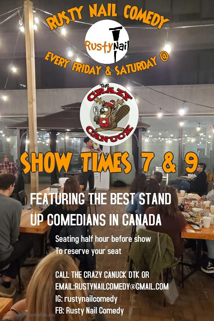 Rusty Nail Comedy Presents :Comedy comeback at The Crazy Canuck Dtk image