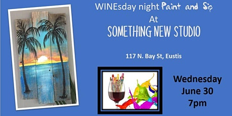 Paint and Sip!  Wednesday Wineday!  - Palms on Pallet tickets