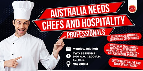 Migration and Job opportunities as Hospitality worker in Australia (9AM) tickets
