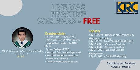 LCRC MAS Practice Webinars: Capital Budgeting tickets