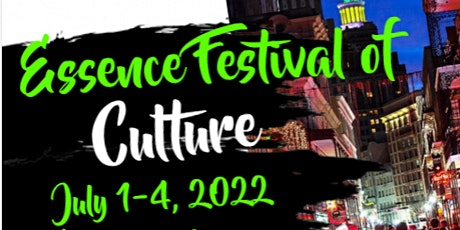 Free Essence Festival of Culture 2022 Pre-Registration Hotel Packages tickets