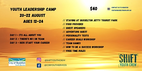 Youth Leadership Camp tickets