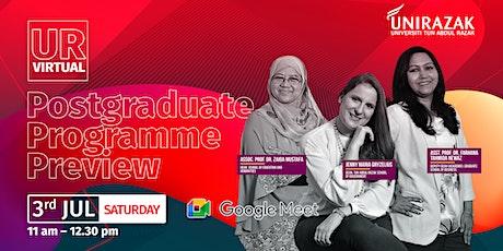 UR Virtual Postgraduate Programme Preview tickets