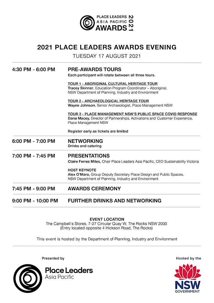 2021 Place Leaders Awards Evening image