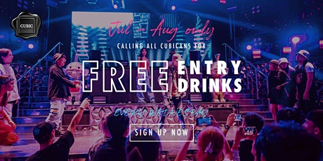 """""""Every Wed""""  Free Entry + Drinks before 12:30AM (Jul - Aug only!) tickets"""