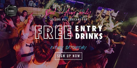 """""""Every SAT""""  Free Entry + Drinks before 1AM (Jul - Aug only!) tickets"""