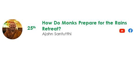 25 Jul Sunday Service:  Talk by Ajahn Santutthi tickets