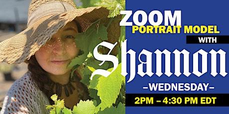 ENCORE! Portrait Model ZOOM with ART MODEL Shannon tickets