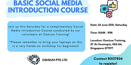 Basic Social Media Introduction Course (26 June) tickets