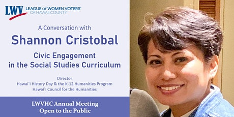 Shannon Cristobal: Civic Engagement in the Social Studies Curriculum tickets