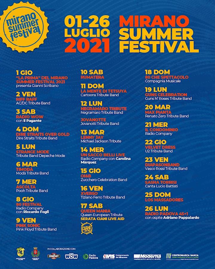 Immagine Mirano Summer Festival 2021 | Prenotazione ingresso