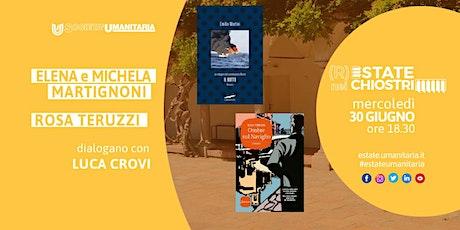 Libri   L. Crovi in dialogo con E. e M. Martignoni e R. Teruzzi biglietti