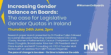Increasing Gender Balance on Boards: The Case for Legislative Quotas boletos