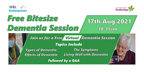 Free Virtual Bitesize Dementia Session tickets