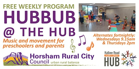 Hubbub at the Hub - Free Music & Movement for the Early Years tickets