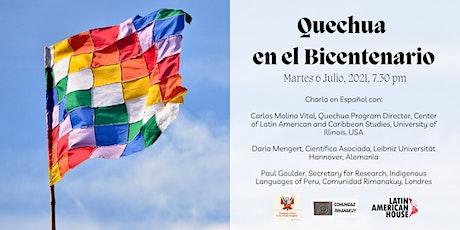 Quechua en el Bicentenario tickets